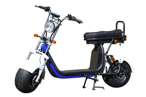 Fatbee H1 Scooter in White and Blue